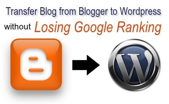 transfer blog from blogger to wordpress