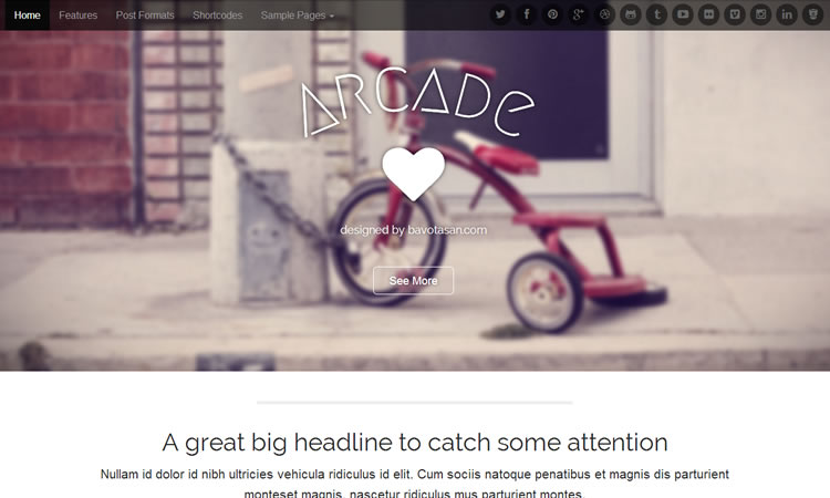 Arcade Wordpress Theme