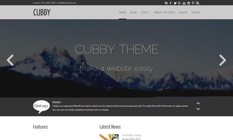 Cubby Wordpress Theme
