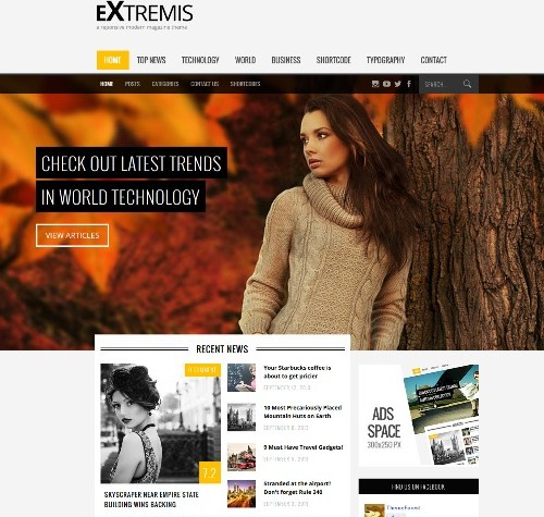 Extremis Wordpress Theme