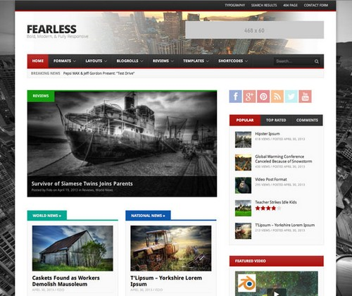 Fearless Wordpress Theme