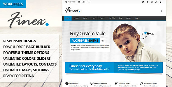 Finex WordPress Theme