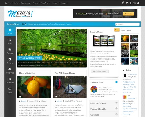 Mazaya Wordpress Theme