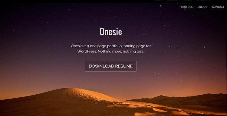 Onesie Wordpress Theme
