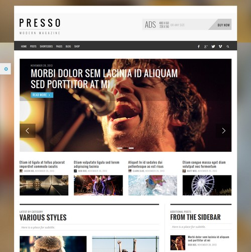 Presso Wordpress Theme