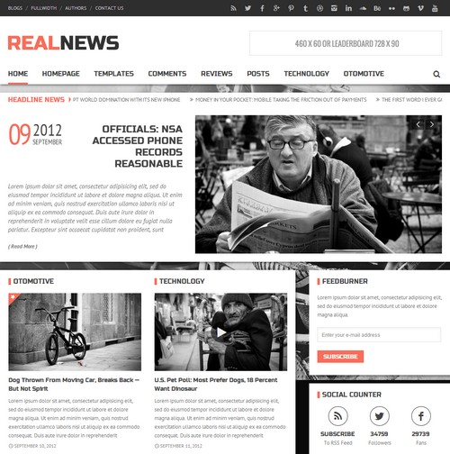 Realnews Wordpress Theme