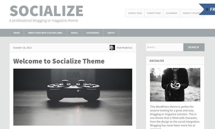 Socialize Lite Wordpress Theme